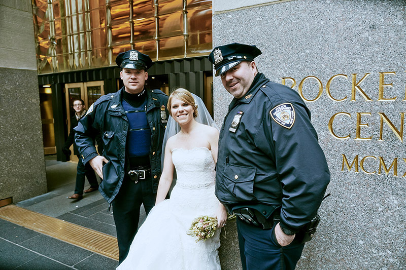 nyc police and bride shot