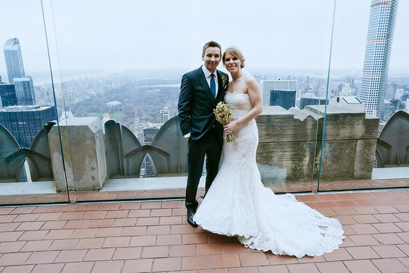 top of the rock wedding