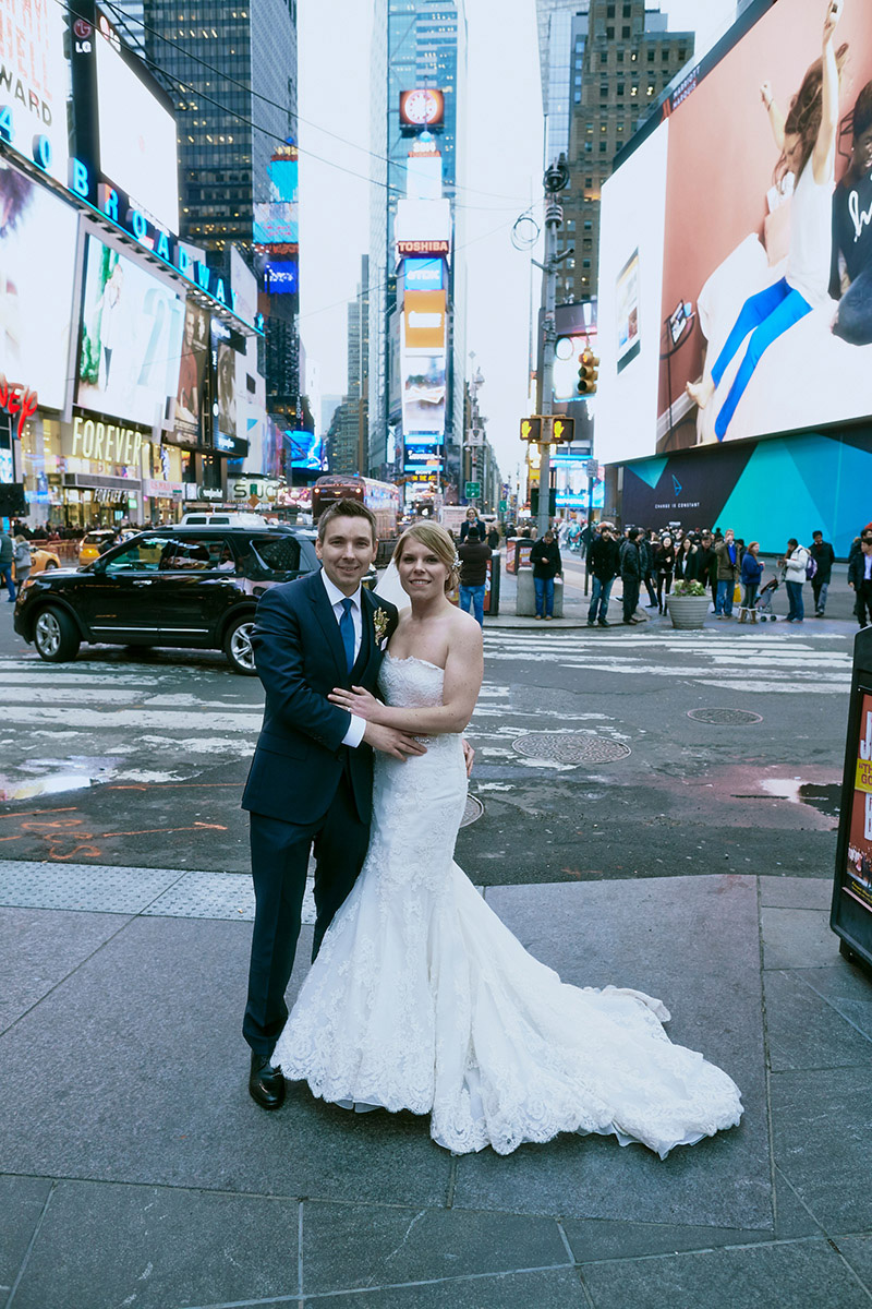 times square nyc wedding