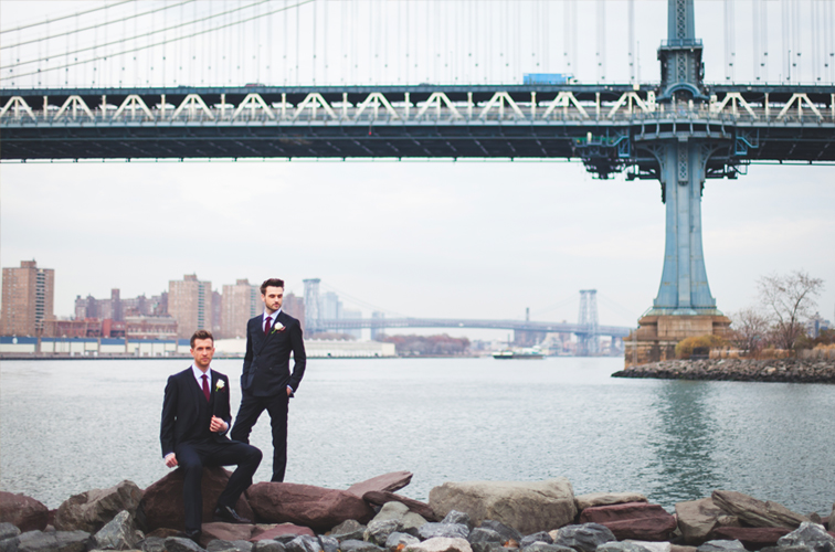 David and James, central park elopement