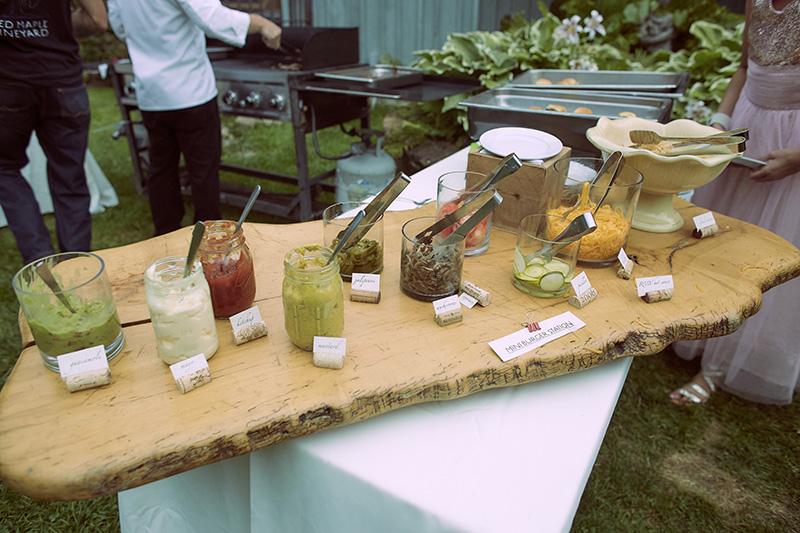 wedding cocktail hour food
