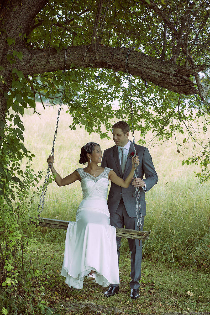 swing wedding picture