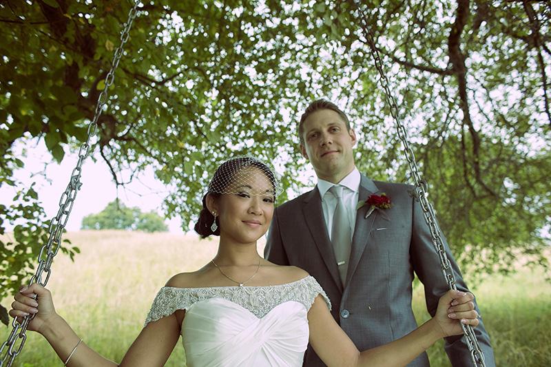 swing wedding photo