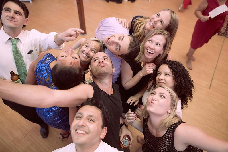 group wedding selfie