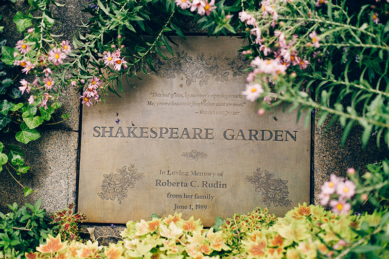 Shakespeare Garden Central Park Wedding