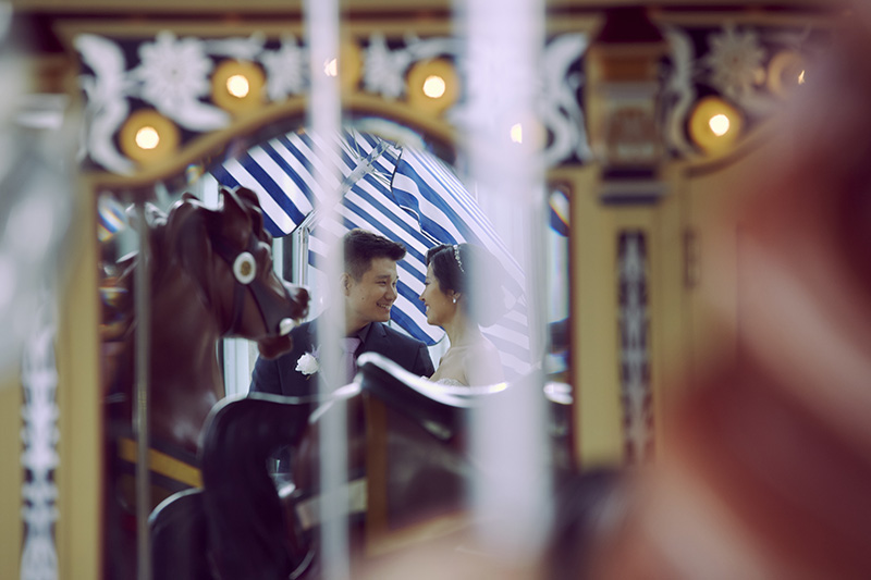 dumbo carousel wedding photos