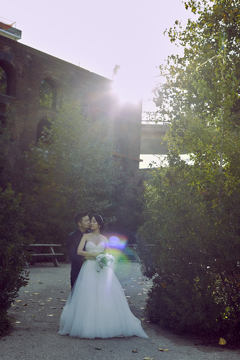 cool wedding portrait
