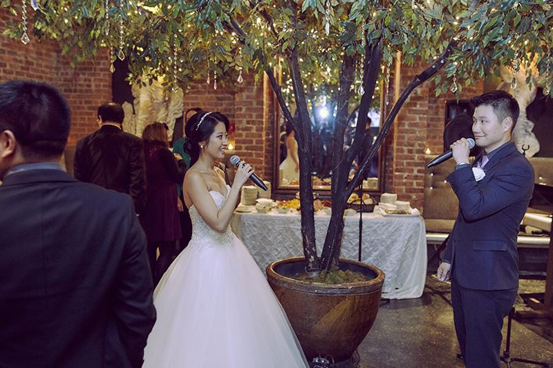 broadway wedding couple