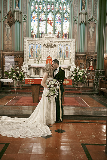 wedding church portrait