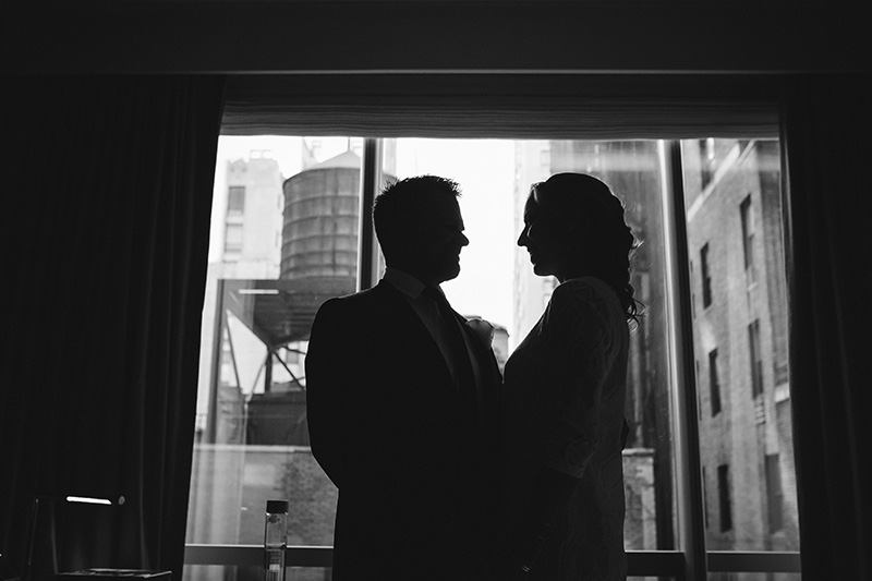 black & white elopement photos
