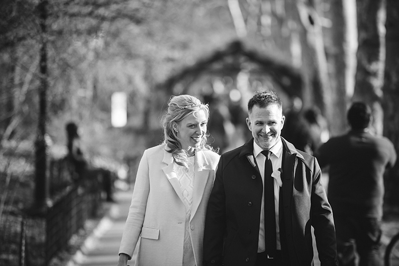 candid central park elopement photos