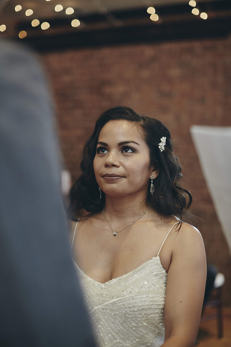 bride at the ceremony