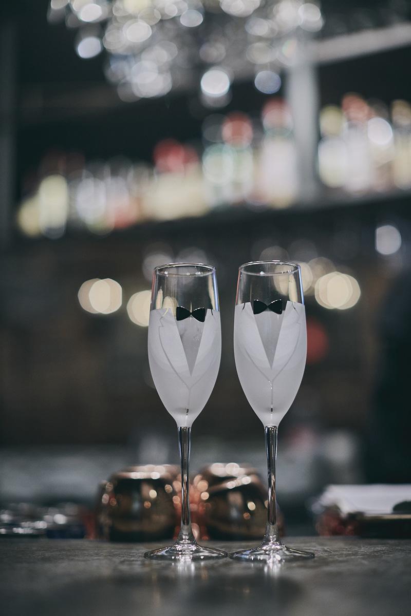 custom wedding champaign glasses