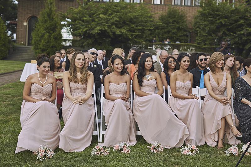 bridesmaids on wedding