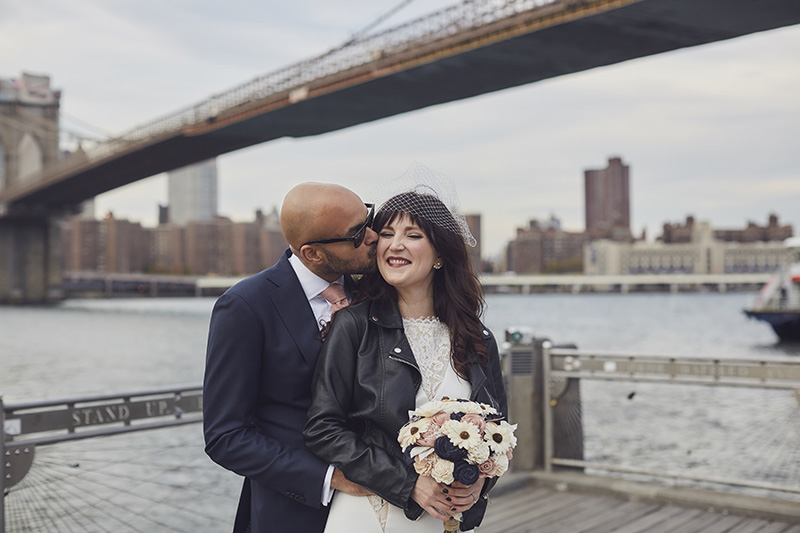 DUMBO wedding portraits