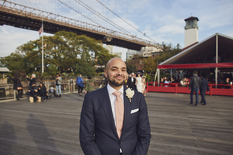 Brooklyn Bridge Park wedding reveal