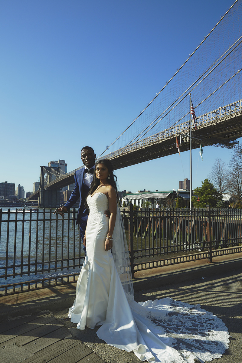 Brooklyn Bridge wedding portraits