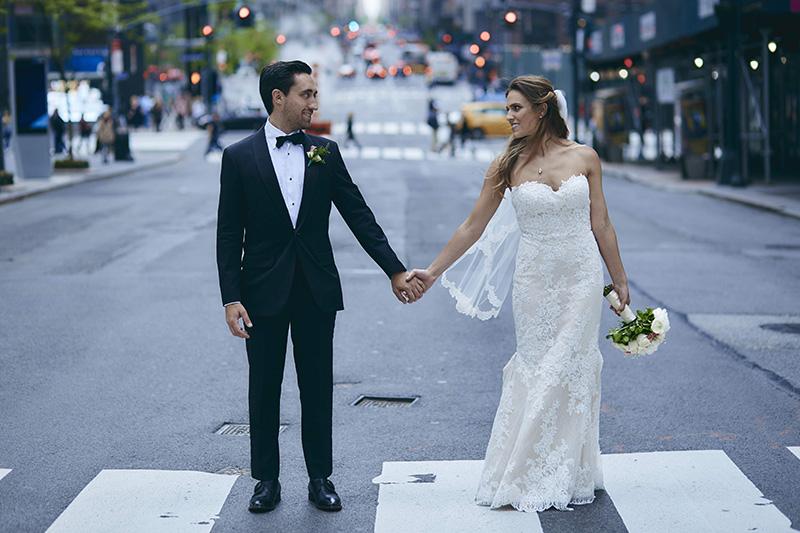 NYC streets wedding photos