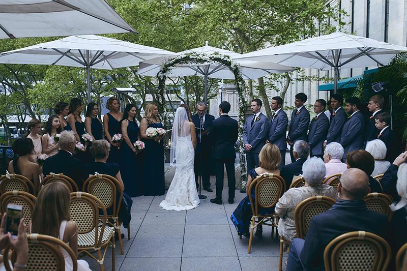 Bryant Park Grill wedding ceremony