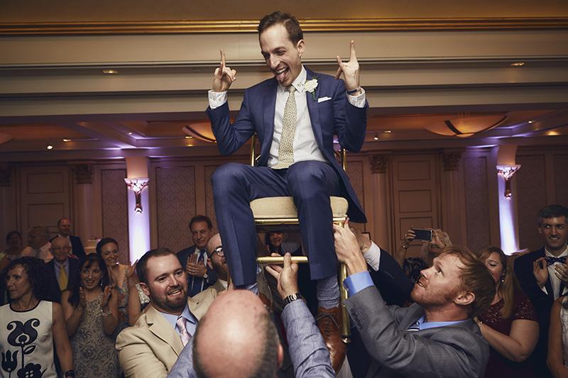 groom on a chair