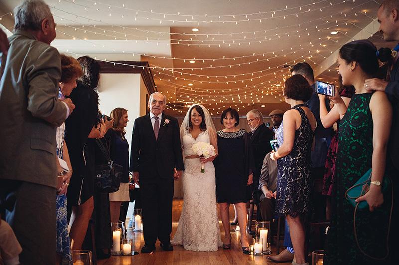 bride walk down the isle