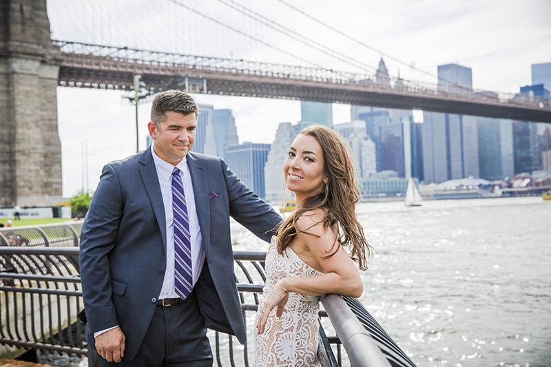 Brooklyn Bridge Park elopement portraits