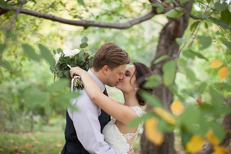Fall elopement photos