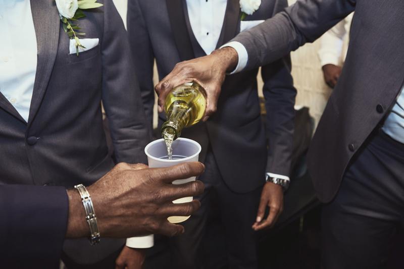 groom is getting ready