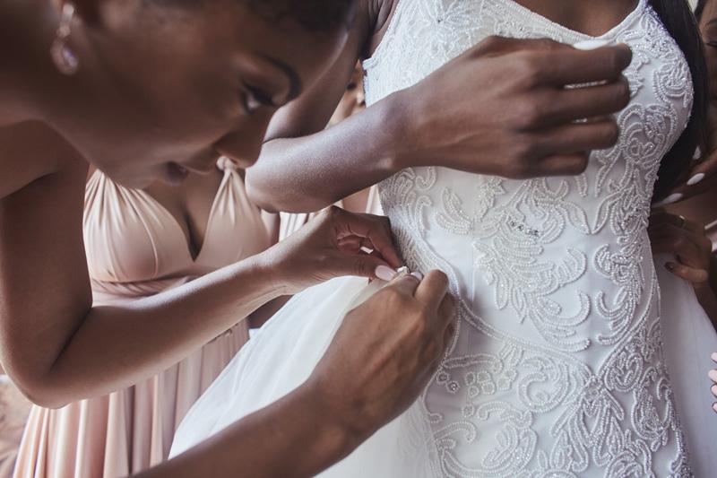 bride is getting