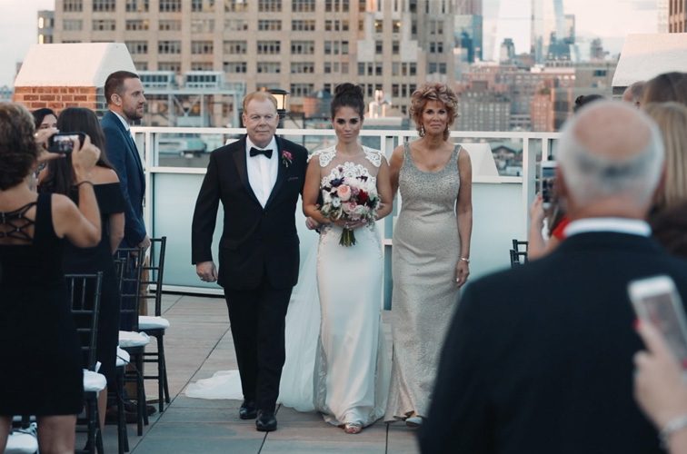 Jacqueline and Michael, tribeca rooftop wedding
