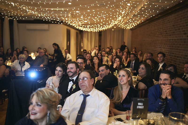 guests watching slideshow