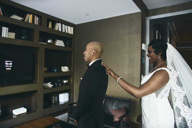 Brides and grooms first look