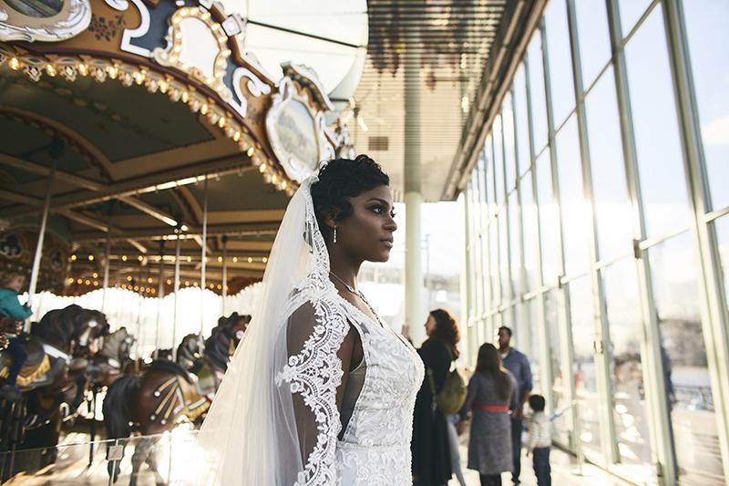 Bride posing