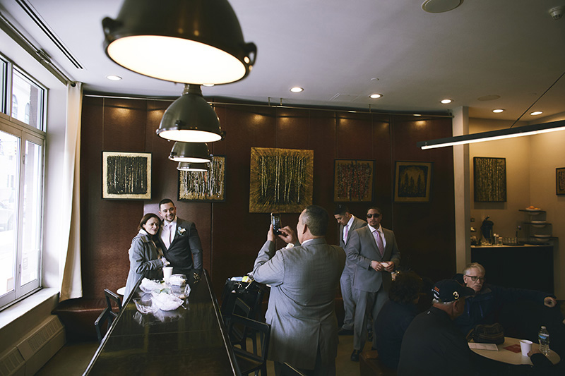 Groom expecting bride