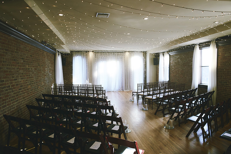 Wedding ceremony room photography