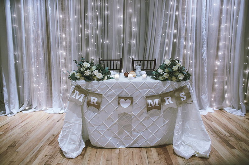 Brides and grooms wedding table
