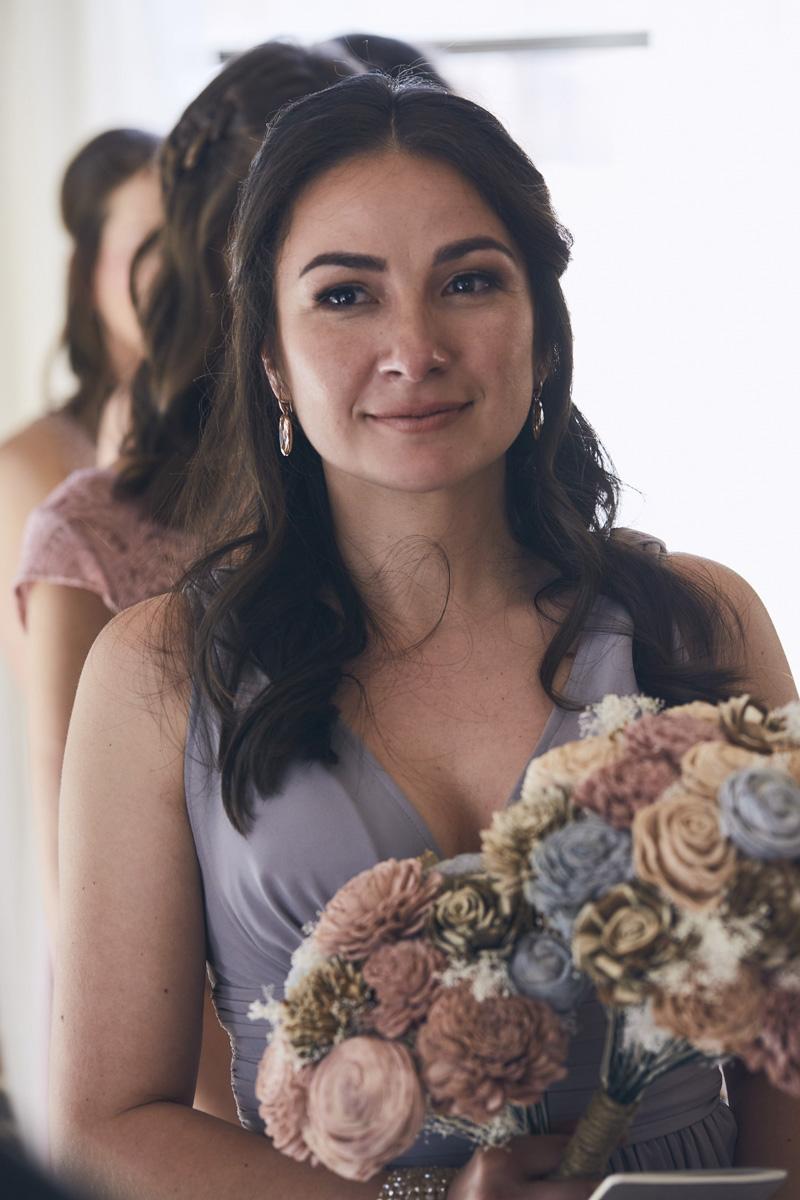 brides maid portrait