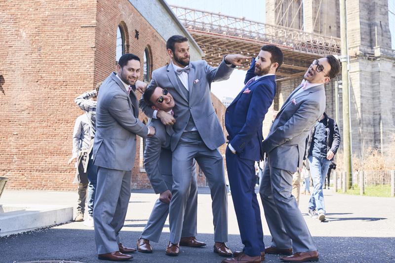 groom with groomsmen photography