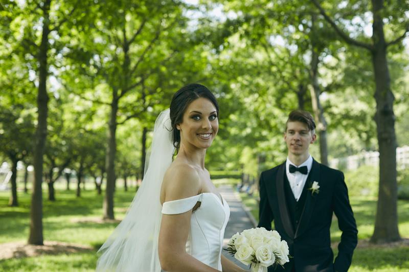 Brooklyn Botanic Garden wedding portraits