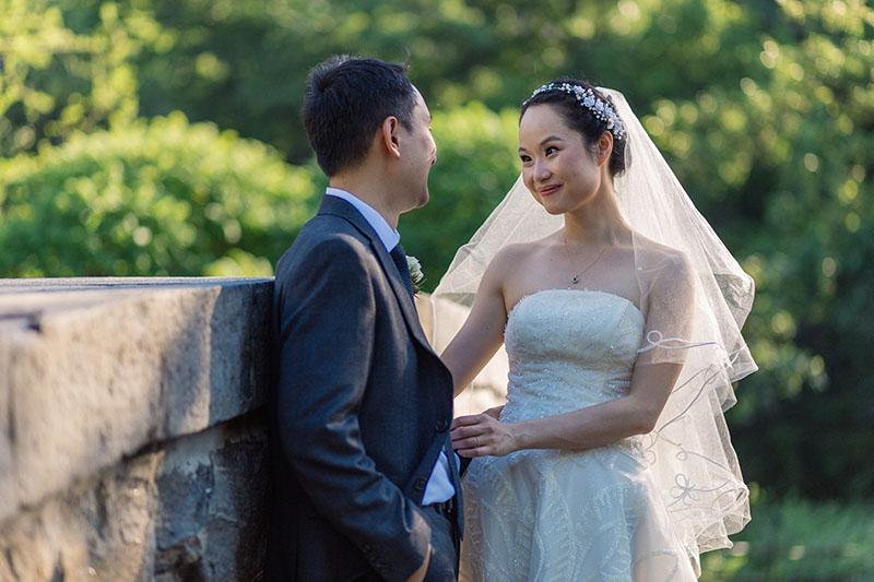 Central Park wedding portrait