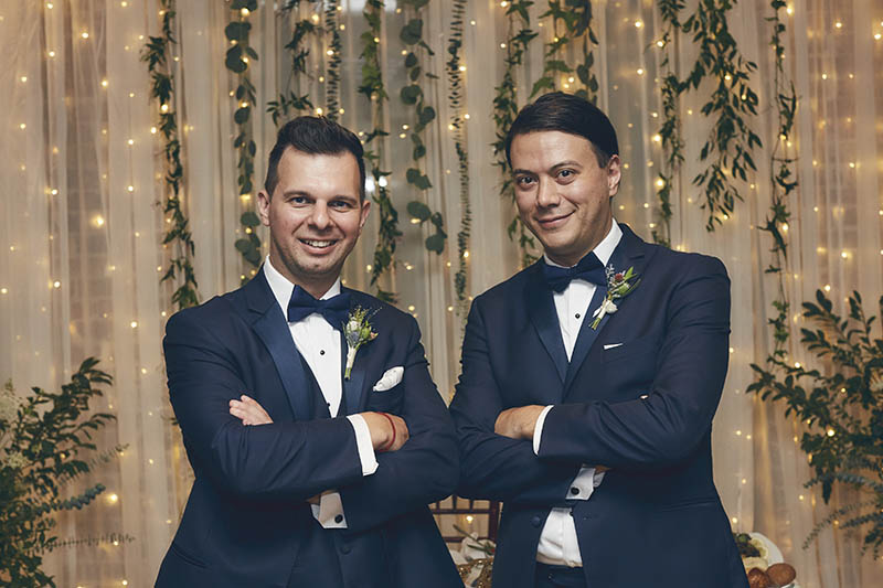 best man and groom