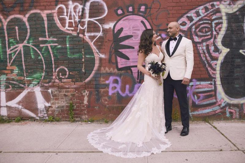 Brooklyn graffiti wedding photos