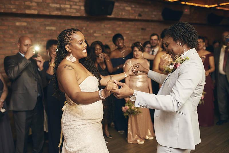 Same sex wedding reception first dance
