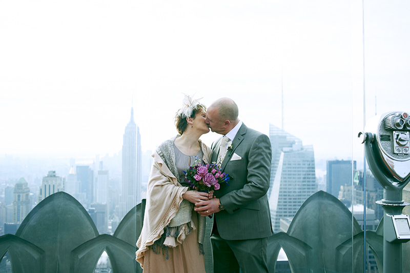 Top of the Rock Elopement Photography