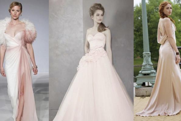 Stunning Wedding Dresses In Beige And Blush: Wedding Trends: Blush Wedding Dresses