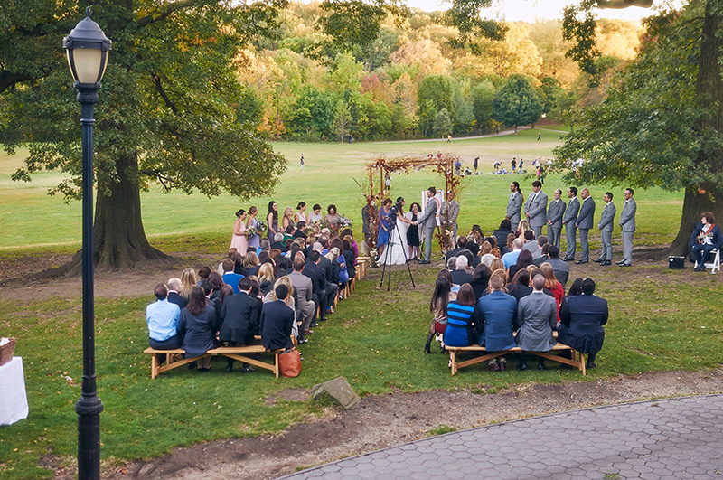 Prospect Park Wedding Ceremony Picnic House