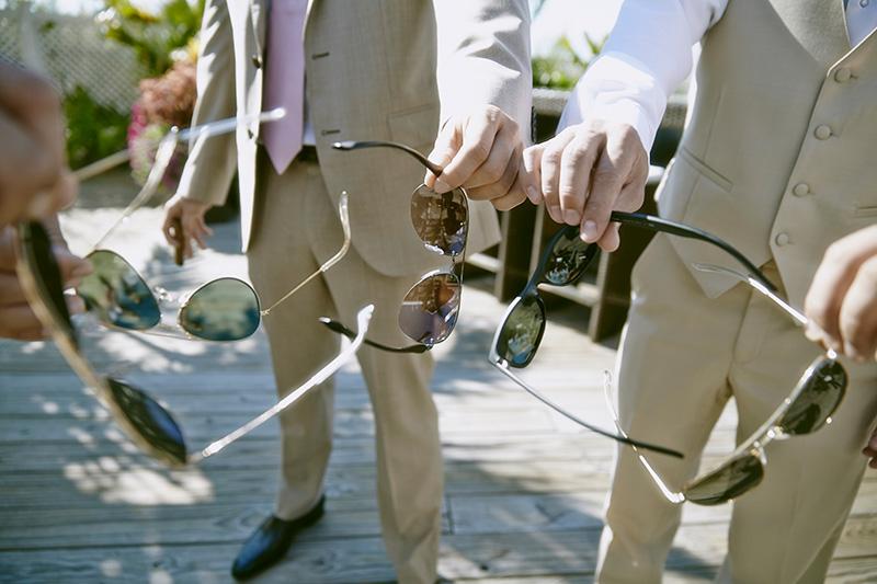 Beach wedding sunglasses