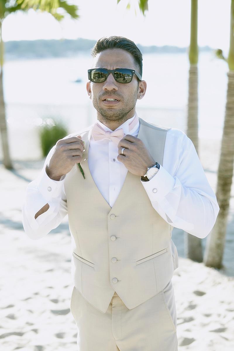 Beach wedding portraits