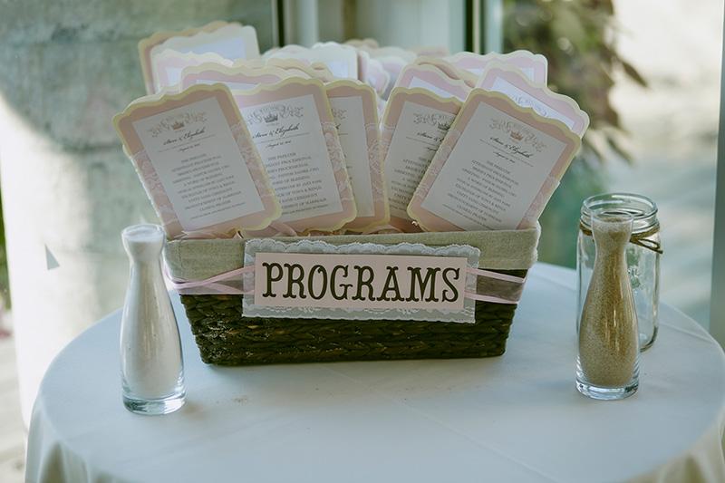 beach wedding program