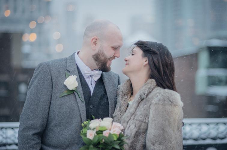 Fay and Marv, rooftop wedding nyc